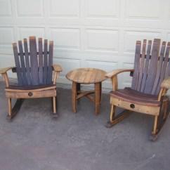 Diy Rocking Chair Kit Big And Tall Recliner Pdf Download Wine Barrel Furniture Plans