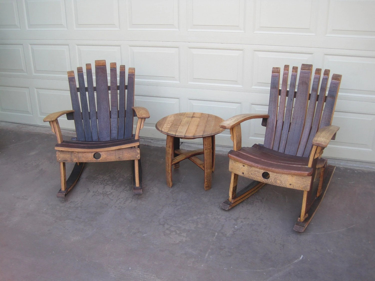 Barrell Chair Rocking Chair Wine Barrel Chair