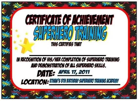 Items Similar To Superhero Training Certificate Batman Superman Ironman Spiderman Wonder Woman