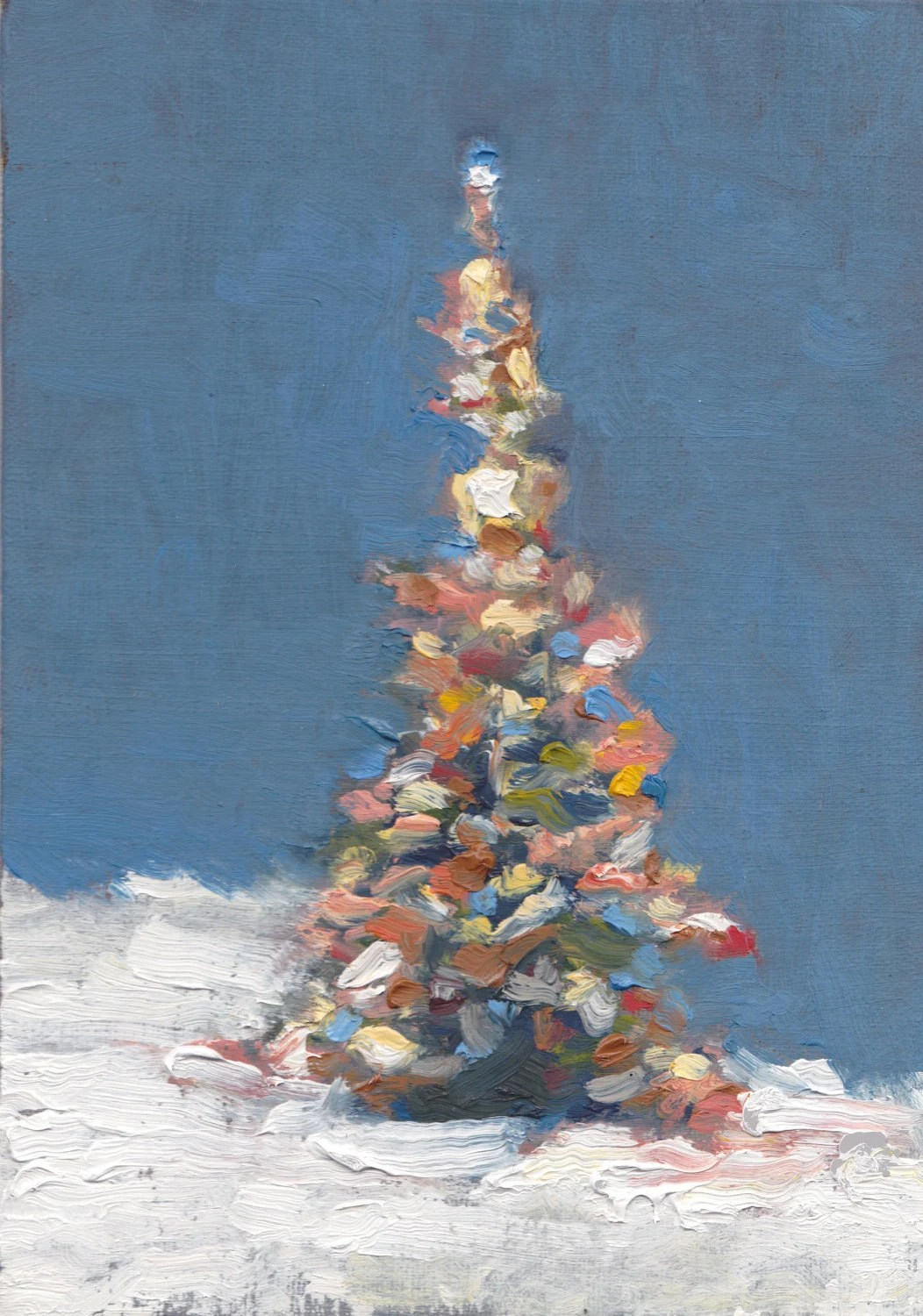 Small Christmas Canvas Paintings