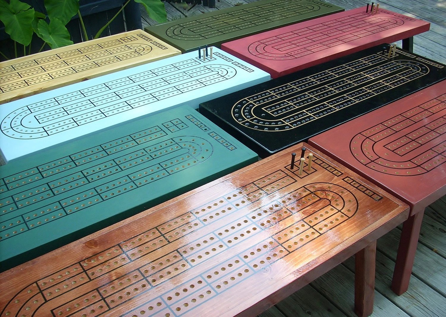 Custom Color Cribbage Table Choose Your Color Or Stain
