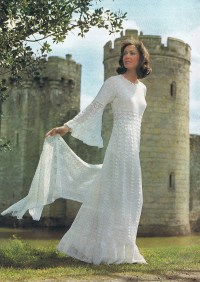 Enchanting Wedding Dress Crochet Pattern Vintage Pattern PDF