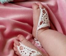 Crochet Barefoot Sandals Baby Girl