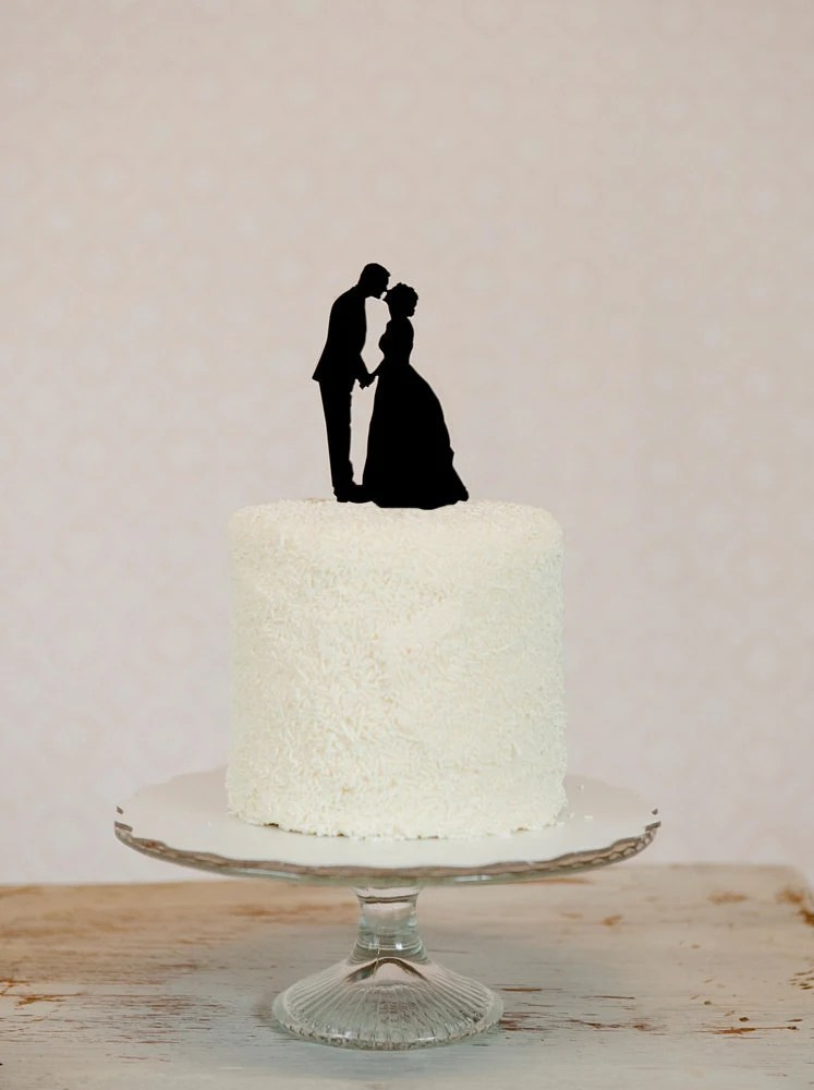 Custom Wedding Cake Topper Personalized with YOUR Silhouette