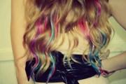 pastel tie dye hair tips dirty