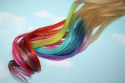 rainbow dipped dyed hair itips