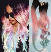 light pastel dip dyed hair unicorn