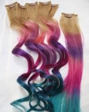 festival hair tie dye tips