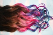 ombre dip dyed hair clip