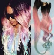 light pastel dip dyed hair clip