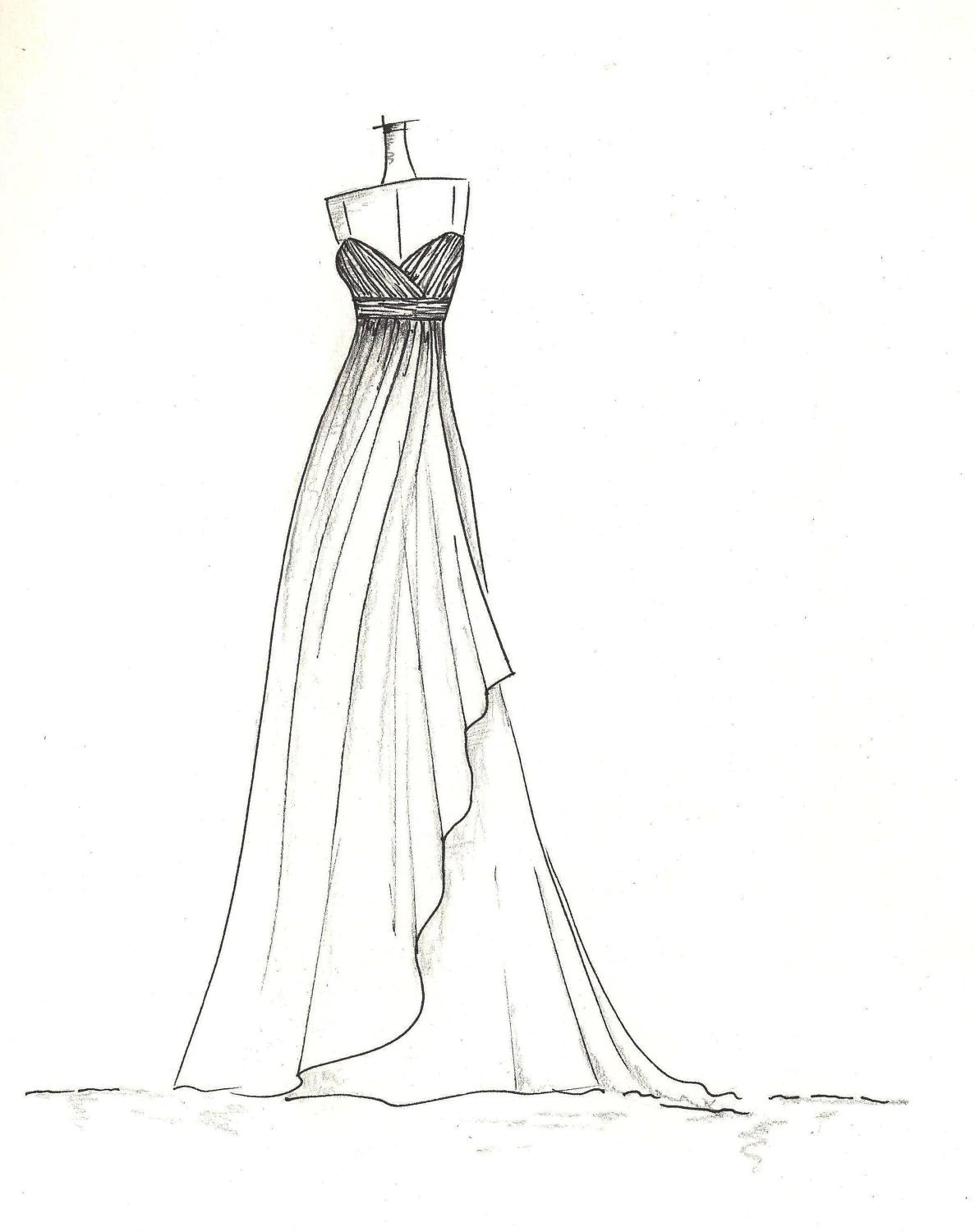 Formal Dress Coloring Pages