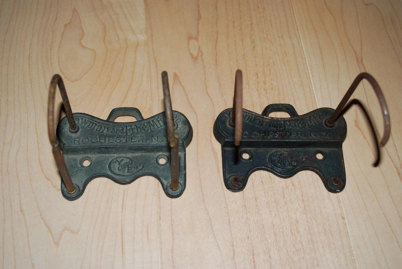 2 Antique Yawman Amp Erbe Cast Iron Receipt Holders