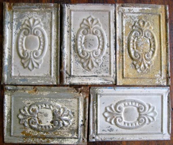 Vintage Tin Ceiling Tile Antique Architectural Salvage 1