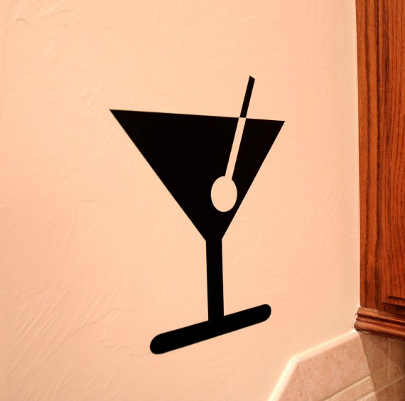 Martini - Vinyl Wall Decal - VinylMill