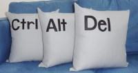 Control Alt Delete Pillows Ctrl Alt Del Throw Pillow Trio