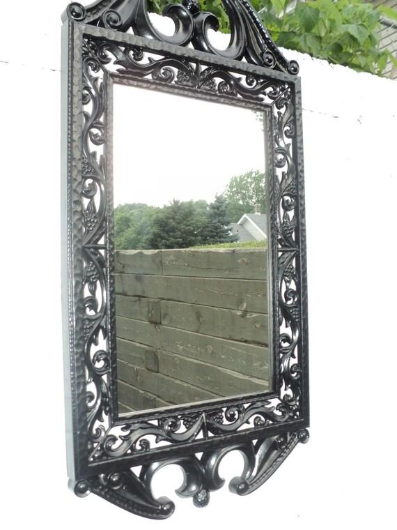 Black Victorian Ornate Wall Mirror