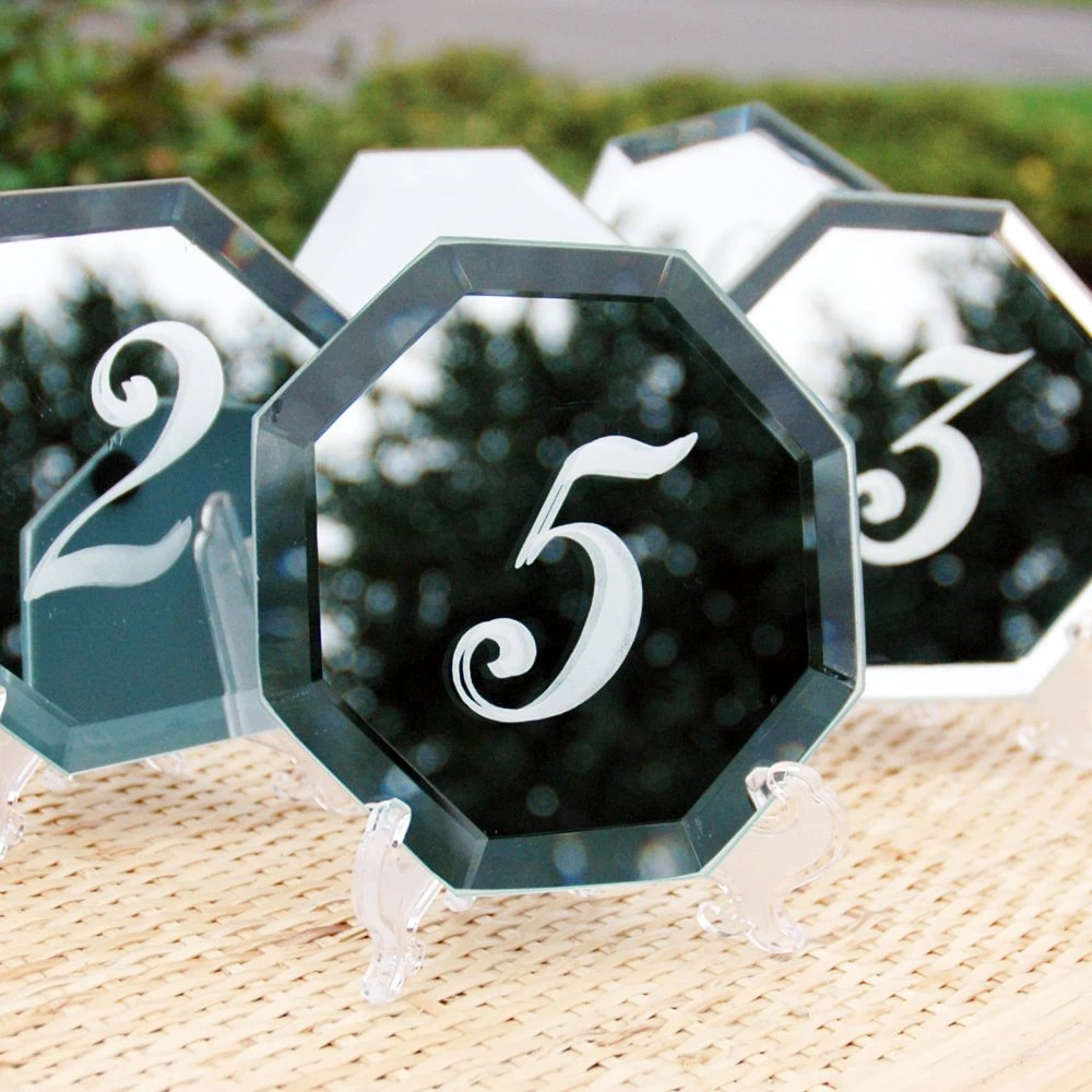 Reserved for Cynthia reeg 20 Table Numbers Glass Etched