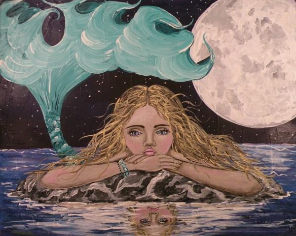 Mermaid Folk Art Painting