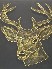 vintage stag string art wall hanging
