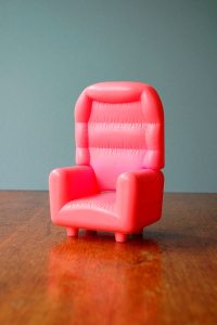 Retro Toy Pink Puffy Chair RESERVED