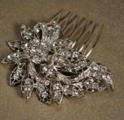 crystal hair clip rhinestone bridal