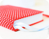 Red polka dot  handmade notebook (diary, journal) - Buntmal