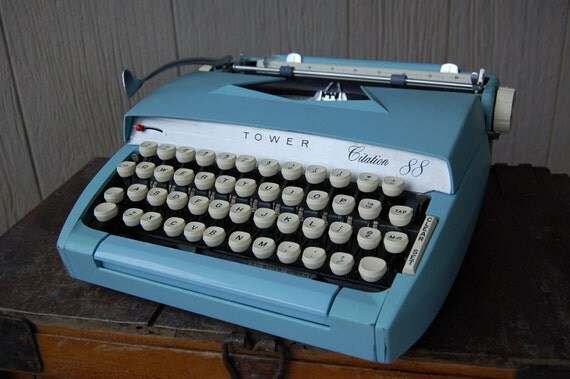 Vintage Sears Tower Citation 88 Typewriter in Light by