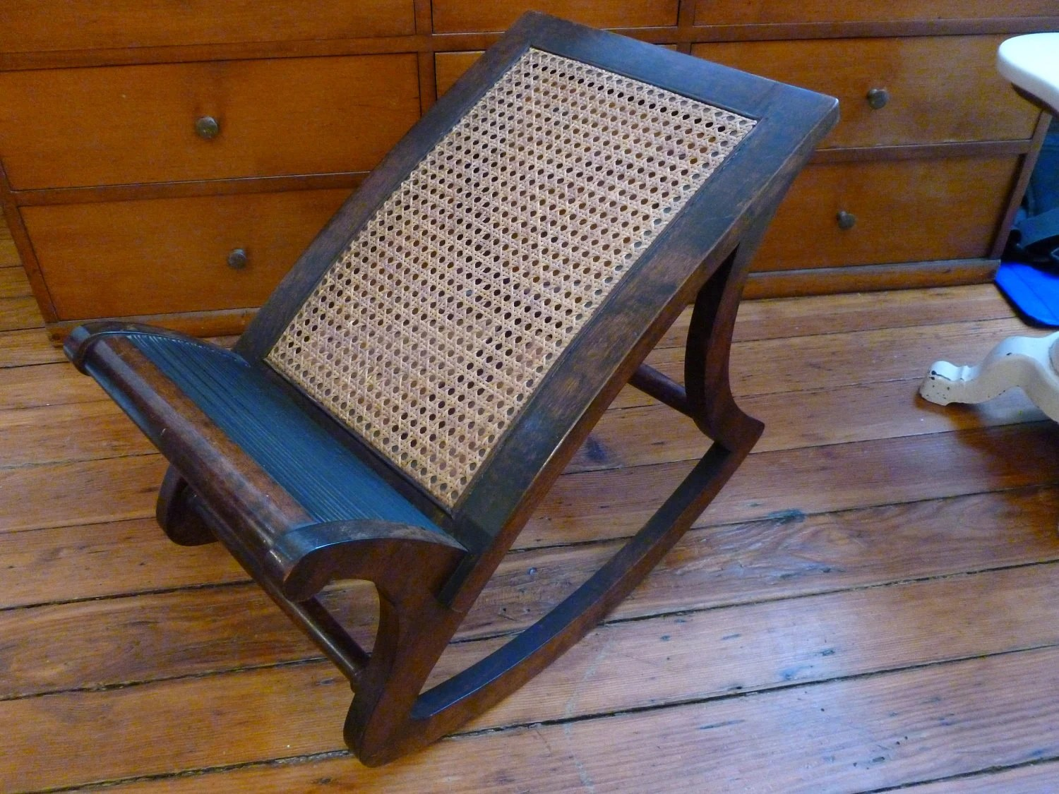 rocking chair footrest patio chairs cushions vintage antique foot rest by