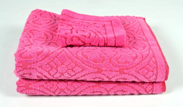 Pink Bath Towel Set