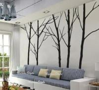 winter wall decal trees wall decor nursery vinyl wall decal