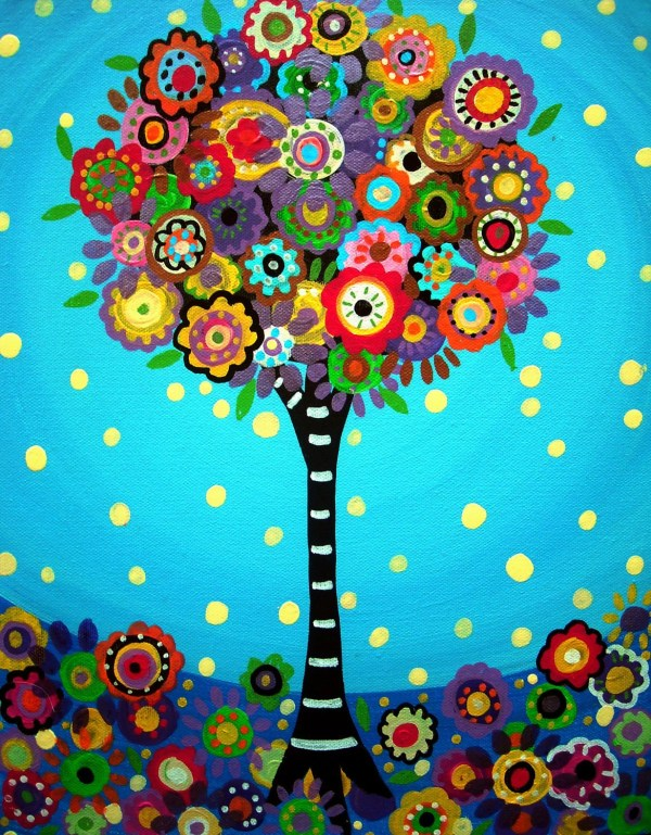 Whimsical Tree Art Paintings