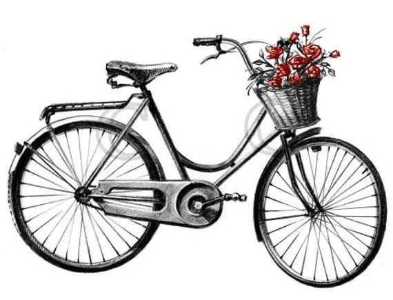 Digital Download JPEG Images Antique Vintage Ride Bicycle