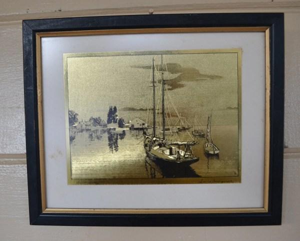 Lionel Barrymore Etchings Gold Foil Prints