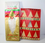 vintage spun glass angel hair christmas