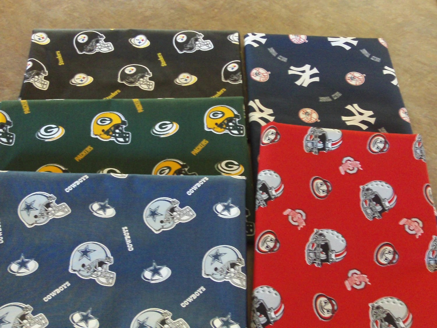 Team Cotton Duck Cloth Fabric Ohio State Pittsburgh Steelers