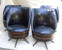 Set of 4 Vintage Whiskey Barrel Chairs by llcooper202 on Etsy