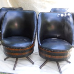 Old Wooden Barrel Chairs Slipper Chair Definition Set Of 4 Vintage Whiskey