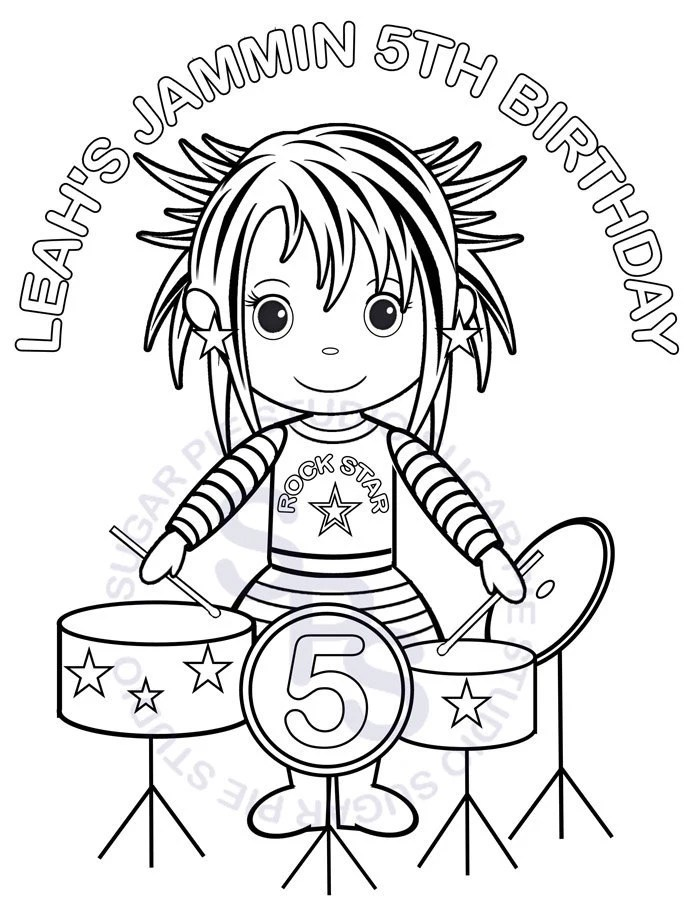 Personalized Printable Rockstar Birthday Party by