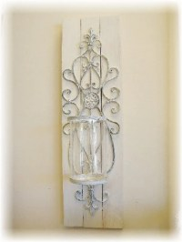 Shabby Chic Candle Wall Sconce PAIR