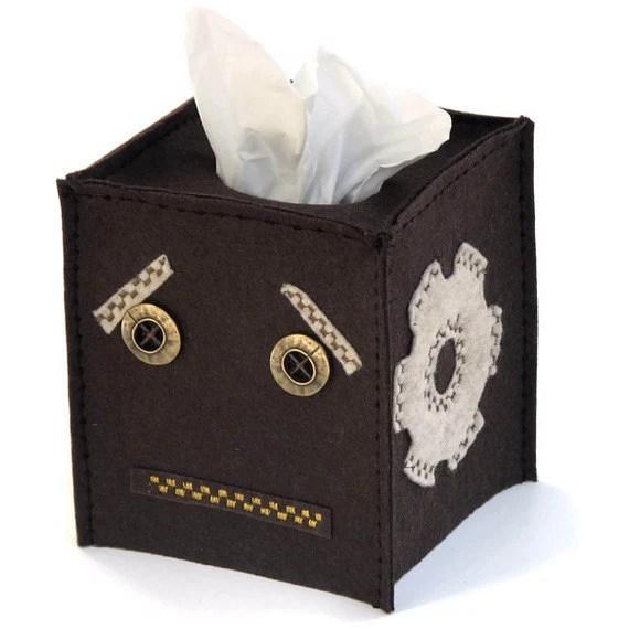 Steampunk Robot Tissue Cover - sockmonkeyfun