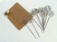 10-Pcs Swirl Shaped Wire Memo Holder ClipSMALL Sign Holder