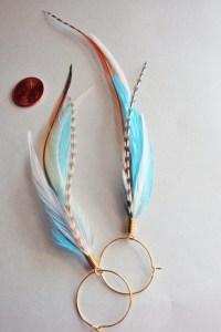 Kingfisher Blue Feather Earrings by MayflyJewelry on Etsy