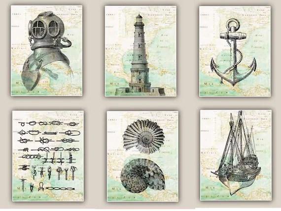 Items Similar To Nautical Art Prints Antique Map East