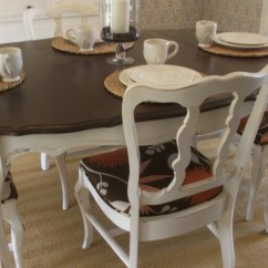 Parisian Table And Chairs White High Back Chair Vintage French Provincial Dining Room