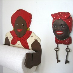 Aunt Jemima Kitchen Curtains Settee For Paper Towel Holder And Key