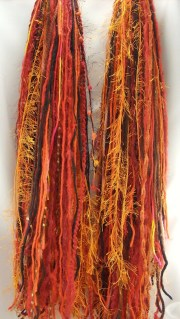 orange yarn falls hair extensions