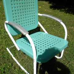 Retro Metal Patio Chairs Big Tall Office Reserve For Sandy Vtg 50s 60s Outdoor Lawn