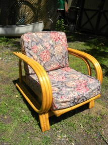 Clean Vintage Mid Century 60s 70s Rattan Bamboo Patio Chair