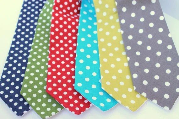 Basic Dots, Neckties for boys, choose your size and color - trendyties