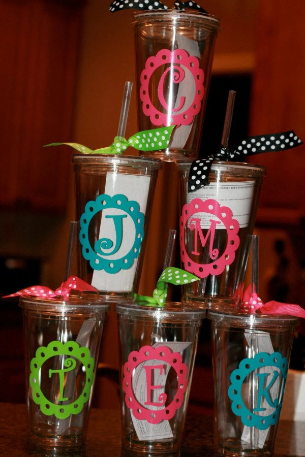 Cricut Vinyl Cup Ideas